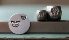 SUPPLY GUY 5mm and 3mm Butterfly 2 Pack Metal Punch Design Stamp Set SGCH-145146