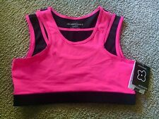 WOMENS sz SPORTS BRA Workout FITNESS Athletic RACERBACK Yoga RUNNING Stretch TOP