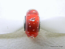 NEW! AUTHENTIC PANDORA CHARM RED EFFERVESENCE #791631CZ  P