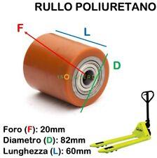 TRANSPALLET SINGOLO Carico Roller//Ruota Assi D20mm x L122mm X2no
