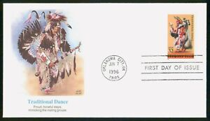 Mayfairstamps US FDC 1996 Traditional Dance Man Costume First Day Cover wwo_0154