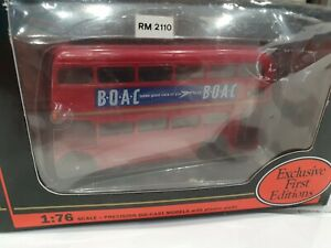 RARE 1/76 SCALE EXCLUSIVE FIRST EDITIONS ROUTEMASTER BUS B.O.A.C. LONDON...