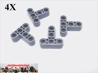 4X Lego® 60484 Technic Liftarme Beam T-Stück 3X3 neues Hellgrau NEU