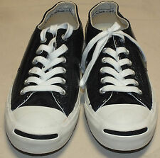 Converse Jack Purcell Black & White Shoes Sneakers Unisex Men's Sz. 5.5 Womens 7