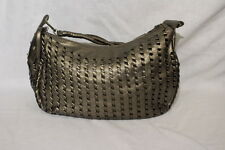 BIG BUDDHA Santa Barbara, Brown/Bronze Metallic Weave Style Hobo Bag-B39