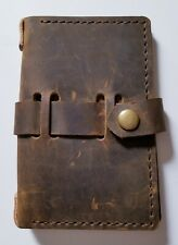 Colsen Keane Distressed Brown Leather Passport Cover Field Notes