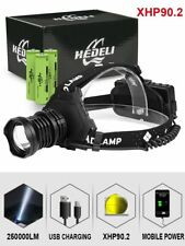 300000 Lm Xhp90.2 Led Headlight Xhp90 High Power Head Lamp Torch Usb 18650 New