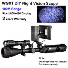 100M Night Vision Lens DIY Night Vision Scope 800x480 Display Riflescope Optical