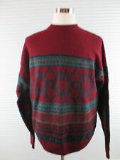 Men's Pendleton Red Snowflake Wool Sweater Sz XL Pendleton Christmas Sweater