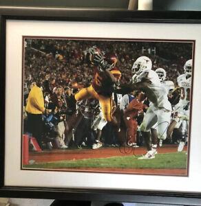 Reggie Bush Framed Autographed 16x20 Photo MOUNTED MEMORIES COA