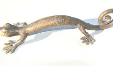 "Large GECKO solid brass door antique old style house PULL handle 14"" scales B"