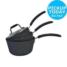 Non Stick Aluminium Pan Set Scoville 3 Piece Pots With Lids Cooking Pans