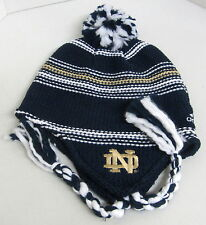 Notre Dame Fighting Irish Multi-Color OSFA Knit Hat With Pom, Braids By adidas