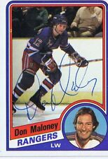 Don Maloney 1984 Topps Autograph #109 Rangers