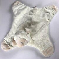 Baby GUND Plush Lamb Blanket Sheep Security Blankie Huggybuddy 17 x 22 Cream