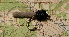 6 Mini Mop Flies sz#12 in grey. A must have for any flybox.