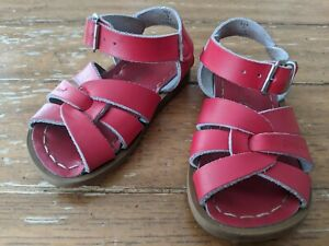 Salt Water Sandals Hoyway Original Red Leather Toddler/ Little Kid Shoes Size 5