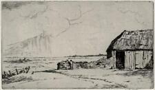 MARTIN HARDIE (1875-1952) Signed Etching EXPECTING RAIN KENT - 20TH CENTURY
