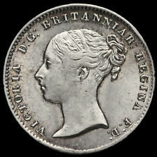 More details for 1856 queen victoria young head silver threepence