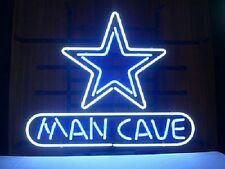 """New Dallas Cowboys NFL Bar Real Glass Man Cave Neon Sign 14""""x10"""""""