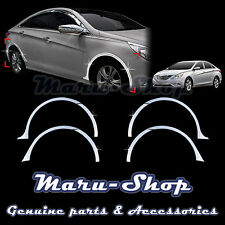 Chrome Wheel Well Fender Cover Trim/8pcs for 11~13 Hyundai Sonata/i45