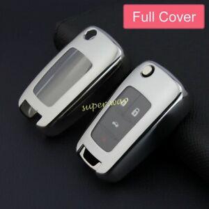 For Chevrolet Buick Camaro Regal Silver Car Flip Key Shell Case Cover Holder