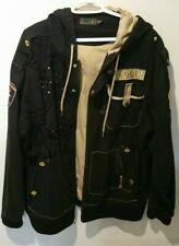 Coogi Australia Men's Black Cotton Jacket Sz XXXL 1969 OUTBACK Embroidery