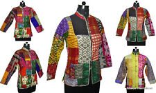 10Pc Wholesale Lot Quilted Jacket Patchwork Silk Blazer Reversible Winter Coat