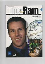 Derby County v Burnley  - Official Matchday FA Cup Programme 11-12-1999