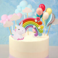 Unicorn Topper Baby Happy Birthday Cake Decor Prop Cupcake Dessert Decorations