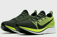 Nike Zoom Fly Flyknit Running Shoes BV6103-002 Men's Size 14 Black Volt White