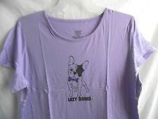 LILAC LAVENDER SMALL DOG CAP SLEEVE NIGHTGOWN SLEEPSHIRT POLY COTTON 2X / 3X