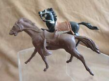 Vintage Western Play Set Horses, Dark Brown Marx Fort Apache & Italian Black FW