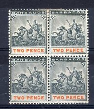 Barbados 1899 2d Seal of Colony MNH/MH block of 4