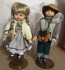 """Ken Spielzeug Bisque Dolls Boy And Girl 12"""""""