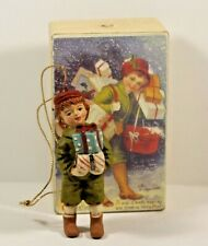 Little Boy Christmas Ornament red hat Boxed