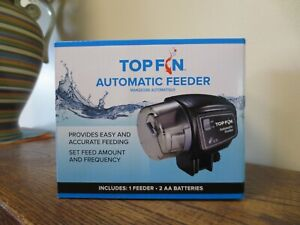 New! Top Fin Automatic Fish Feeder TF-18-205600 (0965)