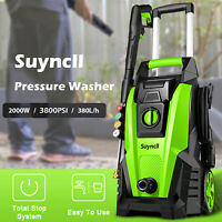 3800PSI 3.0GPM Electric Pressure Washer Powerful Cleaner Machine with Hose Reel