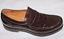 AUTH $840 Gucci Men Bayard Brown Patent Leather Loafer Shoes Gucci 8.5/US9