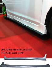 FOR HONDA CIVIC 2012-2015 4DR USDM TYPE-R BODY KIT SIDE SKIRT PP PLASTIC