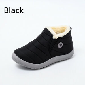 Womens Snow Boots Girls Ladies Shoes Warm Plush Fur Ankle Casual Waterproof