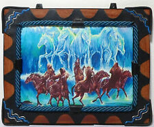 Lotr Gandalf Vs Ringwraiths 13'' Artistic Wooden Frame Painted Copy Very Rare