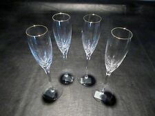 Lenox Firelite Gold Champagne Crystal Flute NEW (Set of 4)