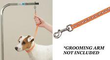 DOG NYLON ORANGE PAW Print RESTRAINT Noose LOOP For Grooming Arm Table Bath Tub