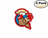 johnny chimpo 4 Stickers 4x4 Inches Sticker Decal