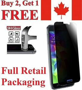 Privacy Anti-Spy Tempered Glass Screen Protector for Samsung Galaxy S5 / S5 Neo