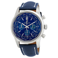 Breitling Transocean Automatic Chronograph Blue Dial Mens Watch