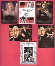 Heidi Newfield & KEITH BURNS TRICK PONY AUTOGRAPH CARD 199+ 5 2014 COUNTRY MUSIC