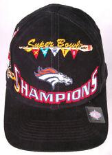 Super Bowl Xxxii Champions Hat-Denver Broncos-San Diego-Nfl-Black-Snapback- Vtg