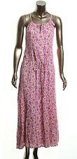 Lauren Ralph Lauren Women's NEW Pink Floral Print Cotton Maxi Halter Dress 10
